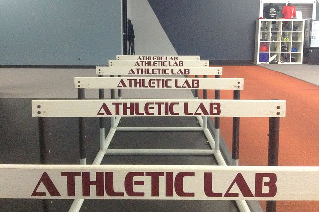 Hurdles from Athletic Lab fitness and sport performance training facility